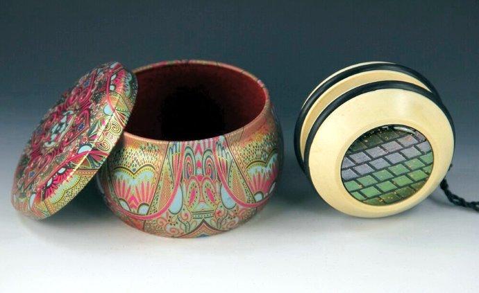 Handmade Toy Yo-Yo, Fixed Axle American Holly With Gift Box