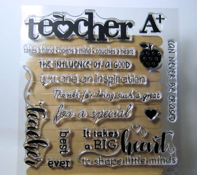 Teacher Die & Teacher Stamp Set
