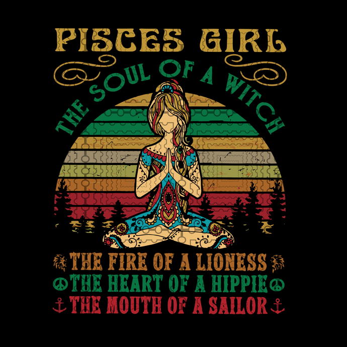 Pisces Girl svg, for Yoga Black Women Birthday Gifts the soul of a lioness the