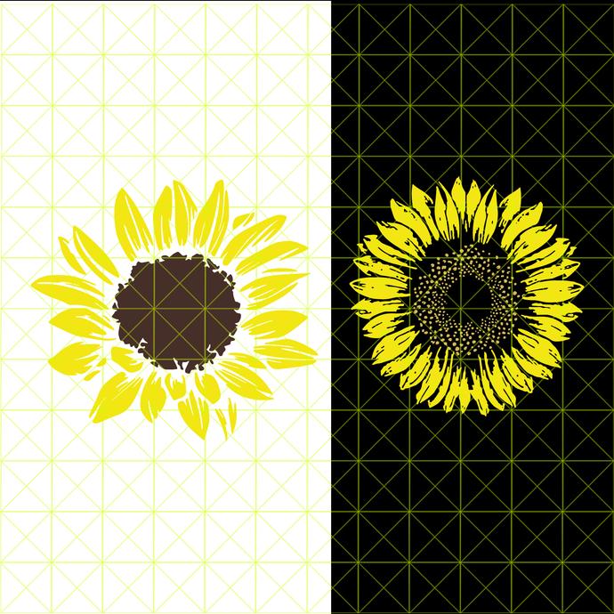 sunshine svg, Sunflower, Instandowload, svg, png, dxf, eps files, cutting files