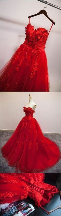 Prom Dresses,Red Prom Dress,New Prom Gown,Evening Gowns,Ball Gown Evening
