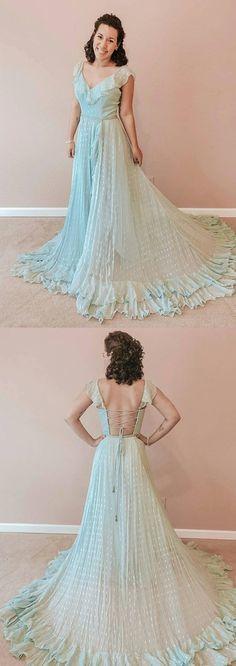 Beautiful Pretty Charming Sweet Sage Chiffon prom dress