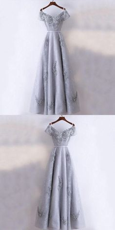 Modest Prom Dresses New Arrival Formal High Quality Prom Dresses, A-line Grey