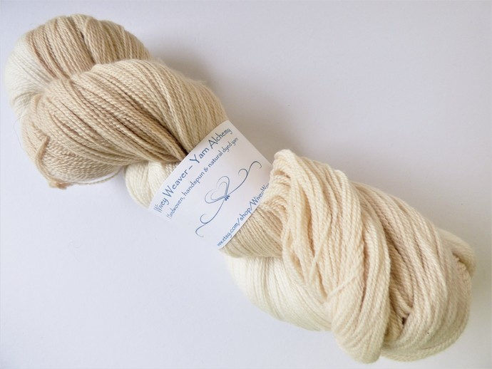 Natural / Eco Dip Dyed with Cherry– 100% Organic Falkland Merino Wool – 103