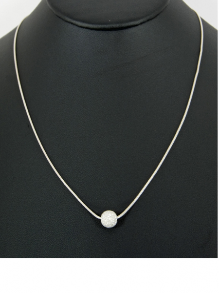 "18"" Sterling Silver Chain with Stardust Silver B"