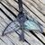 Winged skeleton key stained glass flying key floating vintage iron key with