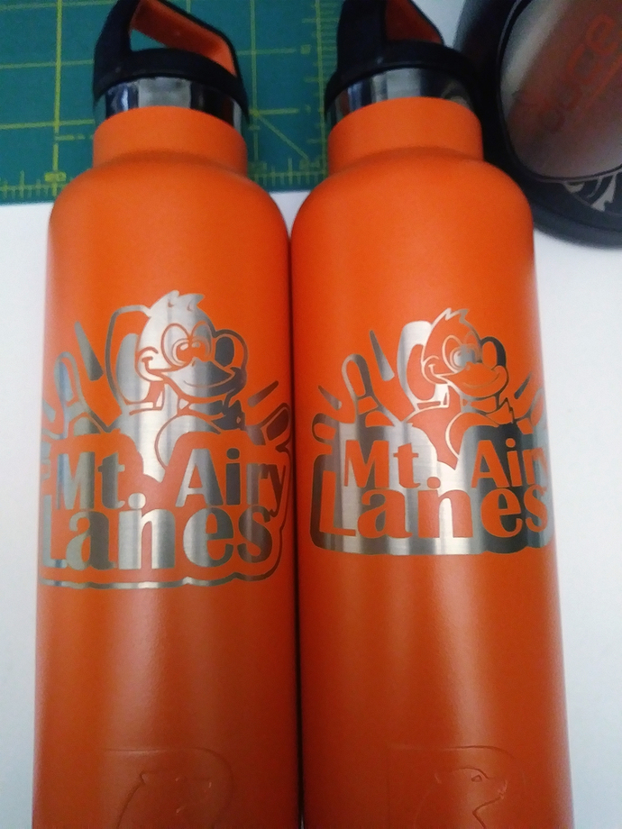 Custom Laser Engraved Flight Boards and RTIC Water Bottles