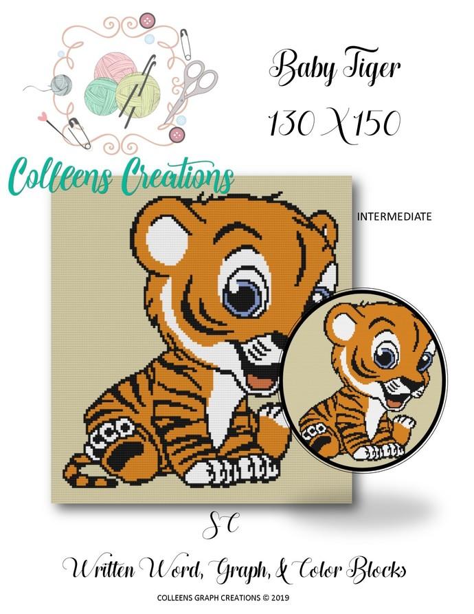 Baby Tiger Crochet Written and Graph Design