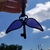 Purple winged skeleton key stained glass flying key floating vintage iron key