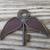Purple winged skeleton key stained glass flying key floating vintage iron key