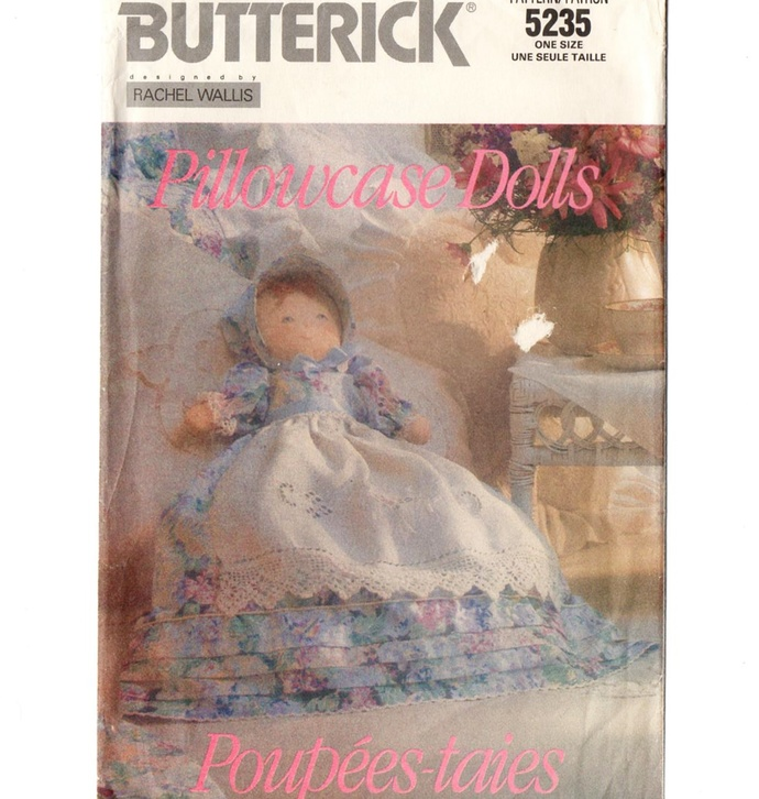 Butterick 5235 Pillowcase Dolls Bed Doll 90s Vintage Sewing Pattern Uncut 4
