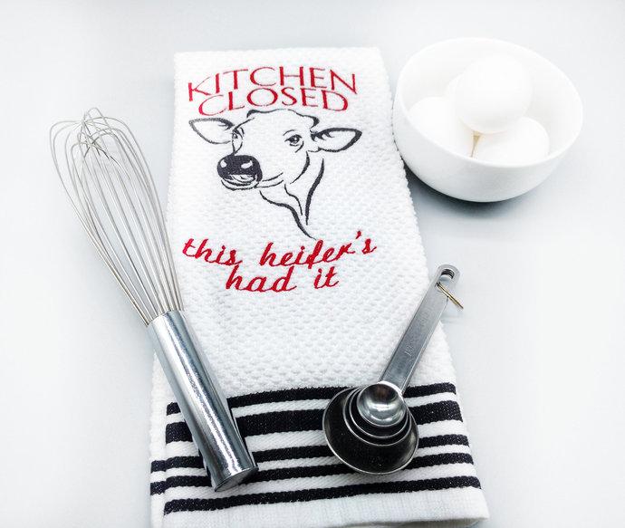 Cow Kitchen Towels, Farmhouse Kitchen Decor