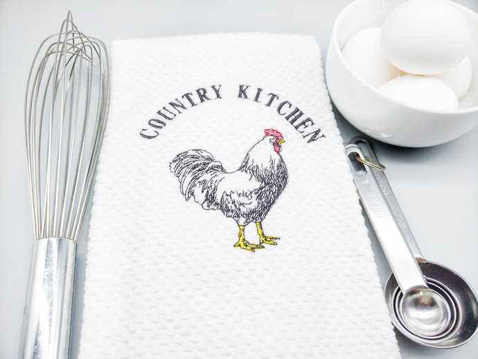 Rooster Kitchen Towels, Country Kitchen Decor