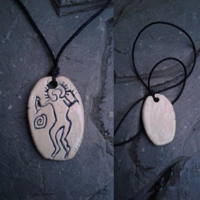 Valcamonica Petroglyph Necklace Ancient Italian Prehistoric Rock Art Ceramic