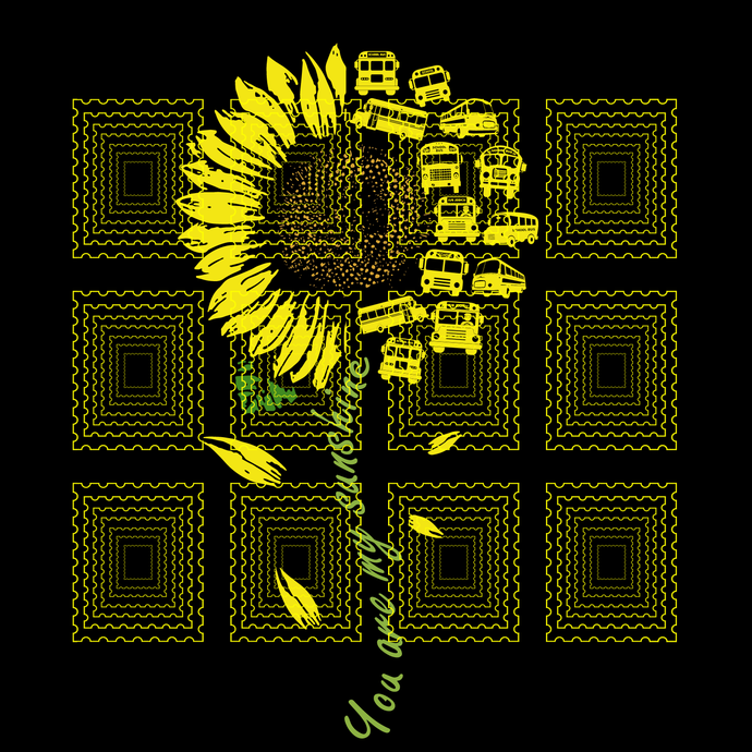 You Are My Sunshine Sunflower School bus svg, School bus svg, png, dxf, vector