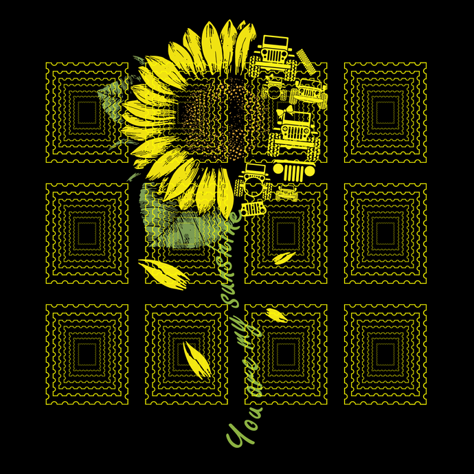 You Are My Sunshine Sunflower Jeep svg, You Are My Sunshine Jeepsvg, png, dxf,