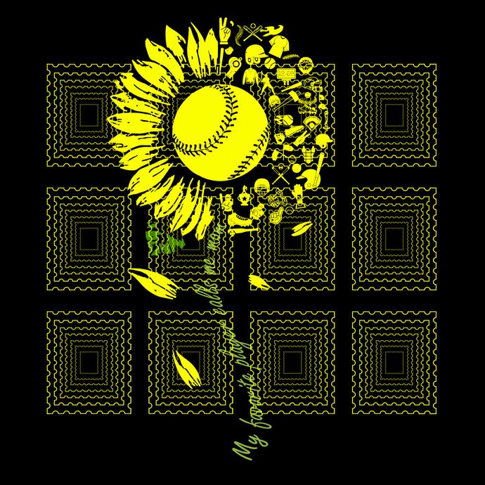 My favorite player calls me mom svg, You Are My Sunshine Sunflower Softball svg,