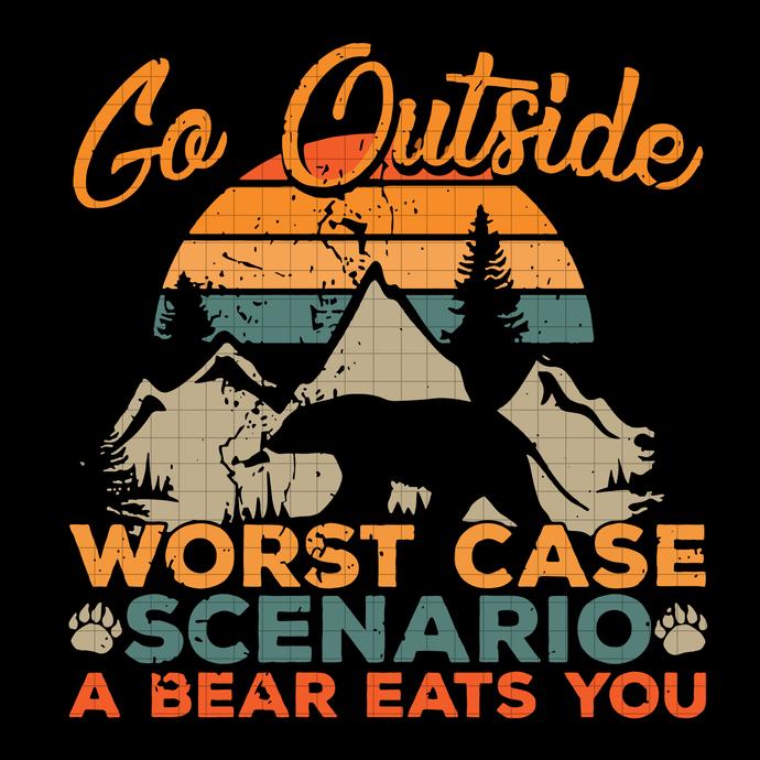 Go Outside svg,  Camping Svg, adventure svg, bear svg, donal svg, disney