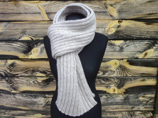 READY Scarf Pearl Handmade Knitted Gift For Her Gift For Men Warm Scarf