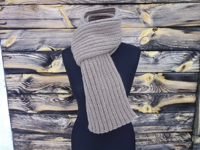 READY Scarf 777 Handmade Knitted Gift For Her Gift For Men Warm Scarf