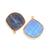 Labradorite Bezel Faceted Freeforam 24k vermail Over sterling silver Gemstone