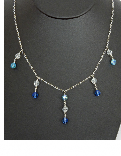"16"" Swarovski® Crystal Sterling Silver Necklace"