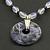 """21""""  2-Strand Sodalite Semi-Precious Gems Necklace"""