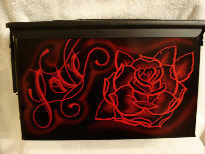 Custom Airbrushed Ammo Can Container