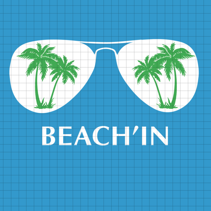 Beach'in svg, palm svg, beach svg, png, dxf, vector for cricut