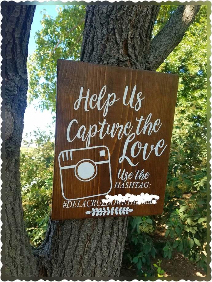 Hashtag wood wedding sign, instagram hashtag sign, wood wedding sign, instagram