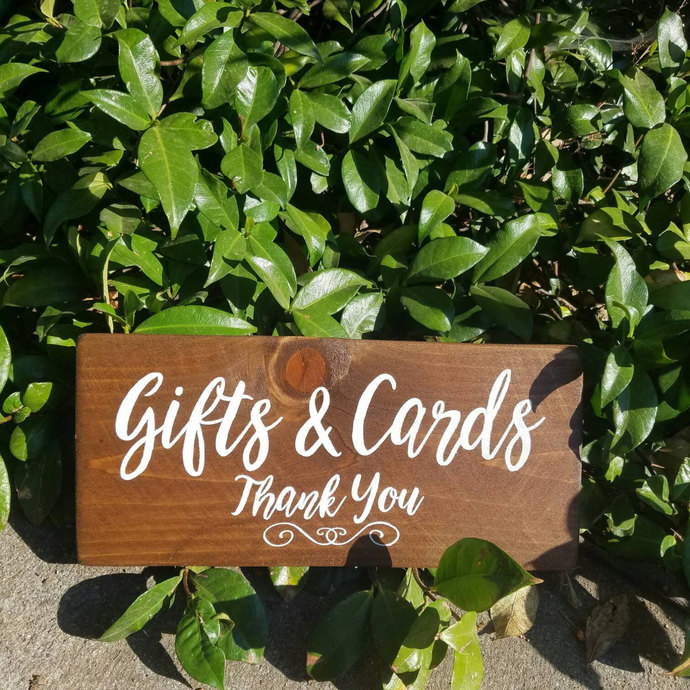 Wood wedding sign, gifts and cards, hand painted wedding sign, wooden sign, gift