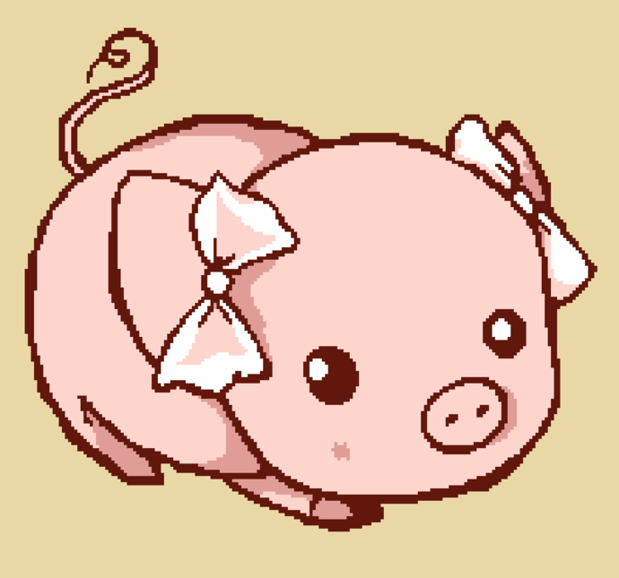 Pig With Bows