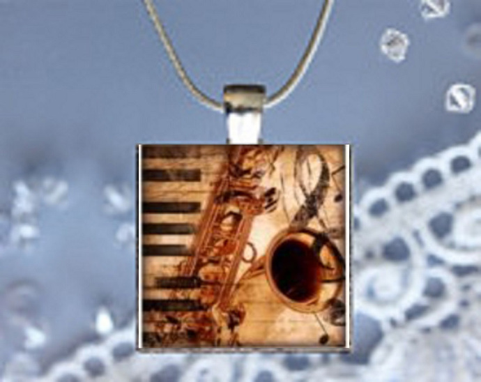 Pendant Necklace Music, Clarinet