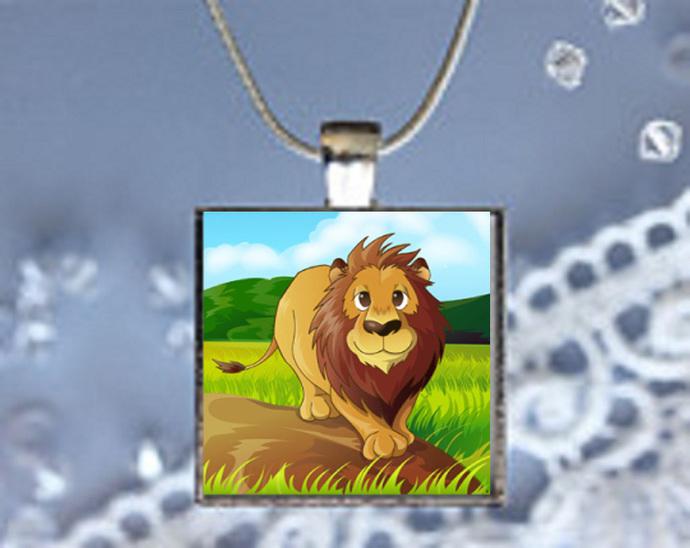 Pendant Necklace Lion