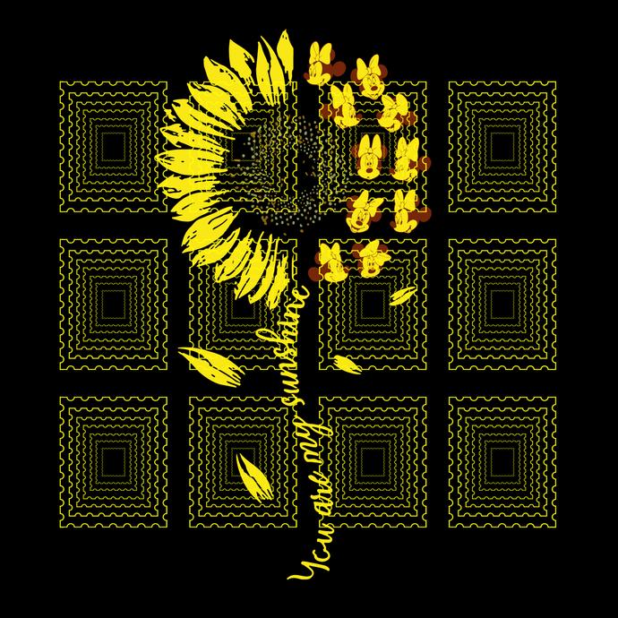 You Are My Sunshine Sunflower Disney svg, Mickey sunflower, Mickey svg, png,