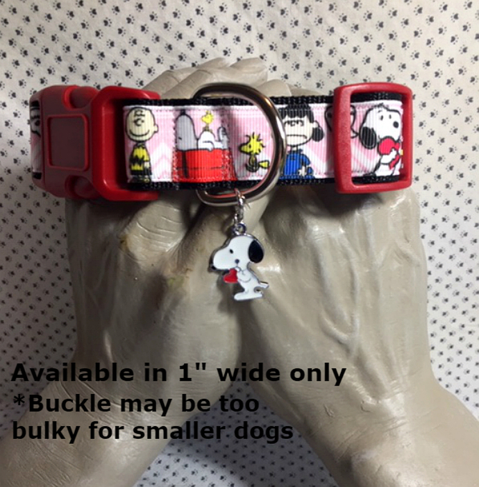 """Snoopy, Beagle, Charlie Brown, Lucy, Peanuts Gang, 1"""" wide adjustable Dog"""
