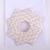 Christmas Ornament Origami Wreath Beige  Geometric