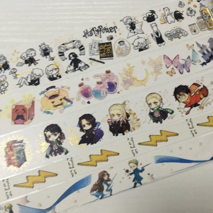 SAMPLE: 5 Designs of Lovely Harry Potter Theme Limited Edition Washi Tape (1m