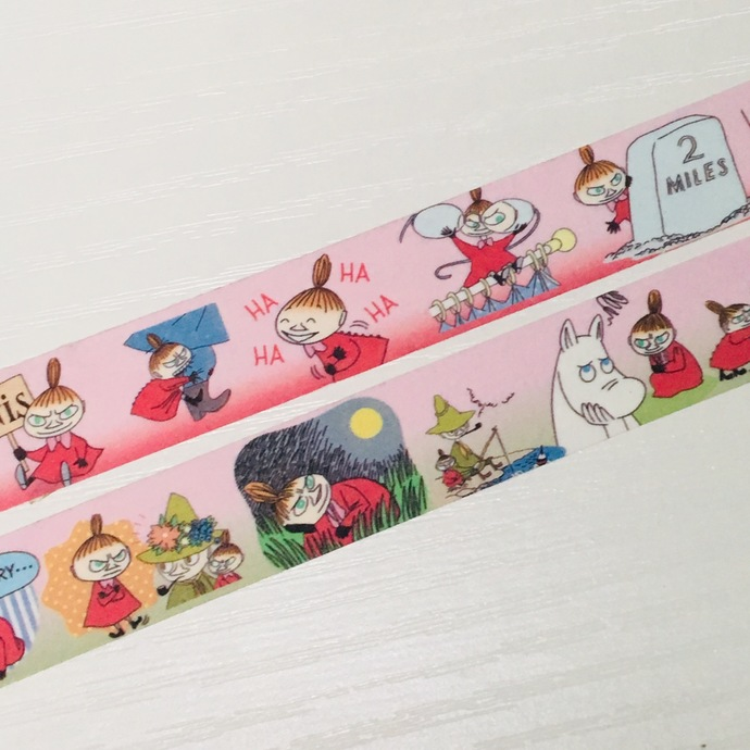 2 Rolls of Washi Tape: Little MY and Moomin Valley