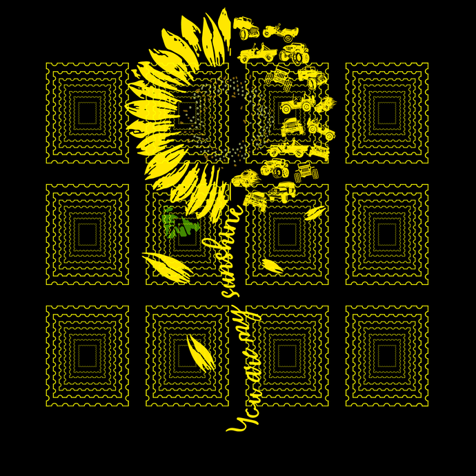 You Are My Sunshine Sunflower Jeep svg, png, dxf, vector for cricut