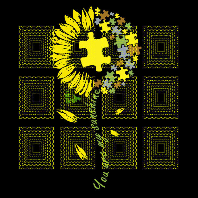 Autism Mom Are My Sunshine, You Are My Sunshine Sunflower Autism Mom svg, png,