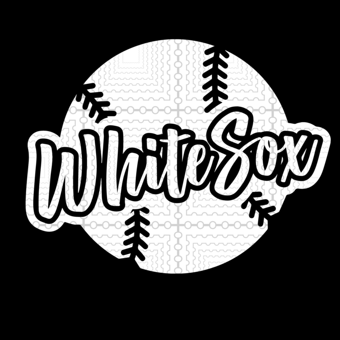 White Sox Baseball in svg, dxf, and png, Cutting File for Cricut
