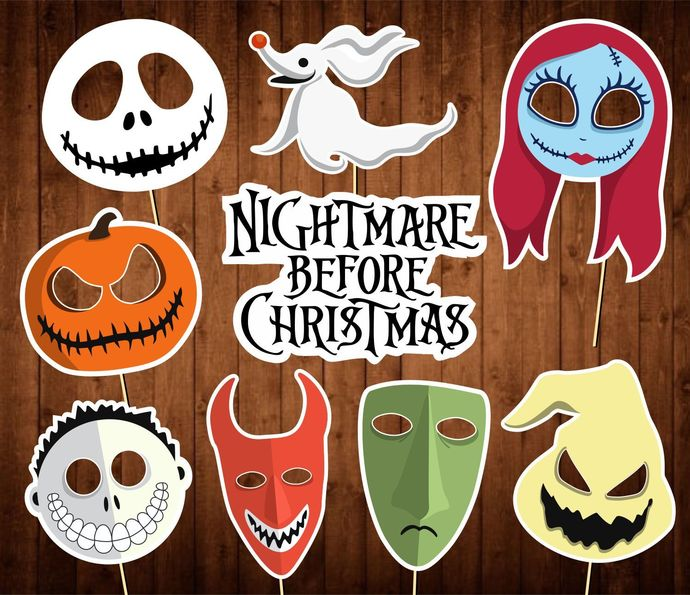 Nightmare Before Christmas Photo Booth Props - INSTANT DOWNLOAD - Birthday Party