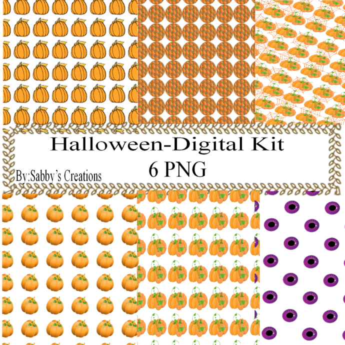 Halloween 141e Digital Kit-Jewelry Tag-Clipart-Gift Tag-Holiday-Digital