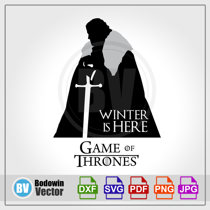 Game of Thrones SVG - Jon Snow / Instant Download / Digital Clipart / Cutting