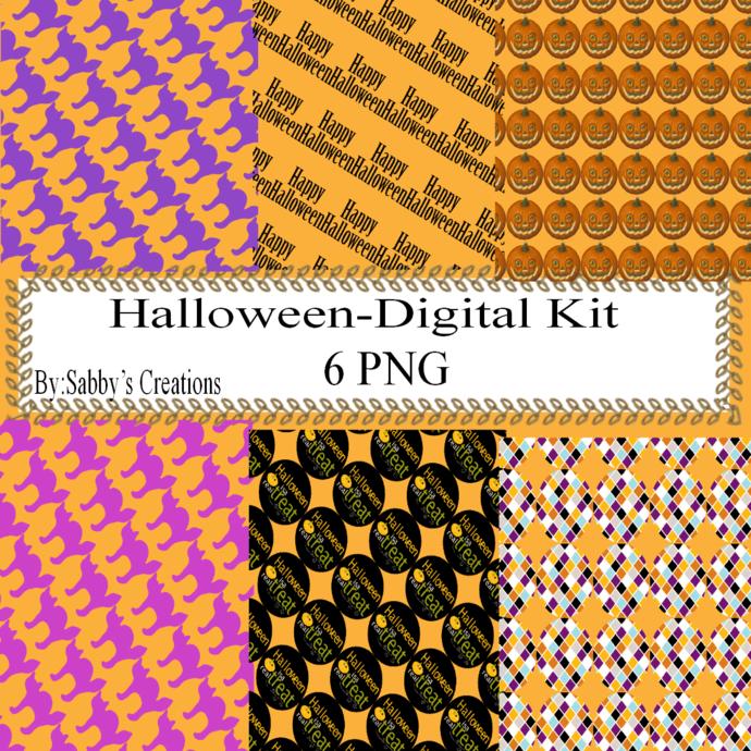 Halloween 138b Digital Kit-Jewelry Tag-Clipart-Gift Tag-Holiday-Digital