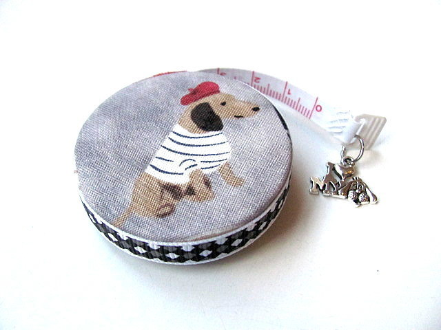 Measuring Tape French Dressed Dachshunds Retractable Tape Measure
