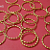25 pcs of Bright Gold Round Texture Link 15mm