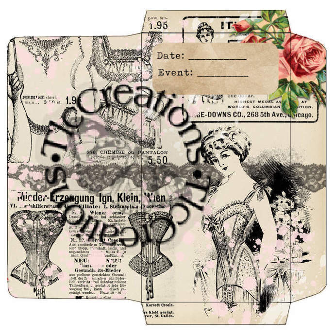 Le Corset Vintage Printable Journal Add Ons Envelopes File Folders Tags
