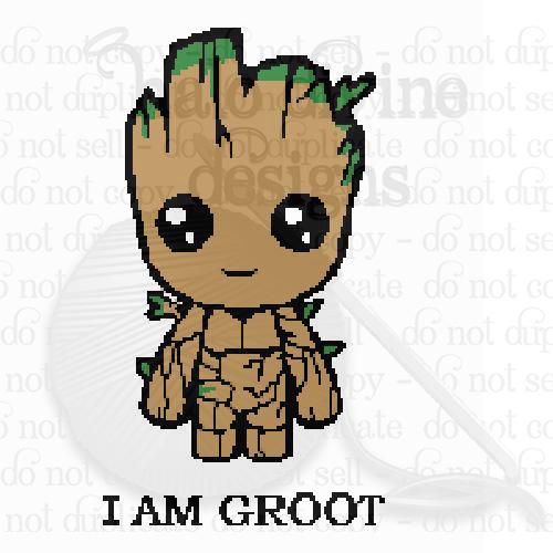 Crochet Graph Baby Groot Graphgan